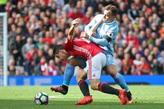 Ander Herrera vies with Xherdan Shaqiri Ufc, Manchester United, Sports News, The Unit, Football, Running, Balls, Soccer, American Football