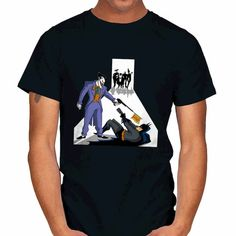 Batman T-Shirt by Zascanauta. Show everyone that you are a fan of Batman and the Joker with this Reservoir Dogs parody t-shirt. Reservoir Dogs, Batman T Shirt, Batman Stuff, Bats, Sleeves, Mens Tops, Shirts, Fashion, Moda
