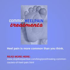 More and more people are finding solutions to their heel pain once they see a podiatrist. Here is what heel pain is all about: http://www.stopfeetpainfast.com/blog/post/treating-common-causes-of-heel-pain.html