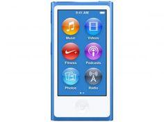 "iPod Nano Apple 16GB - Tela Multi-Touch 2.5"" Acelerômetro"