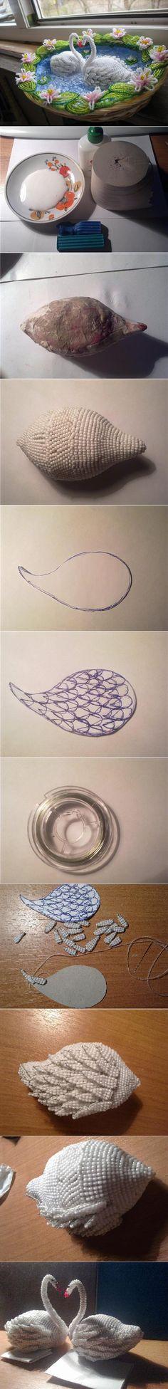 Amazing!!!DIY Beads Swan