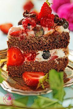 dietetyczne ciasto czekoladowe z owocami 10