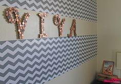 Casa Montada: Desafio de Blogueiras:decorar a parede com $10