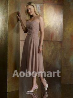 Sheath / Column Sweetheart Tea-length Chiffon Mother of the Bride Dress