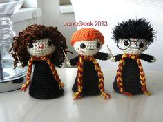 Harry Potter y amigos muñeca Crochet Patrón por JanaGeek en Etsy, $4.99