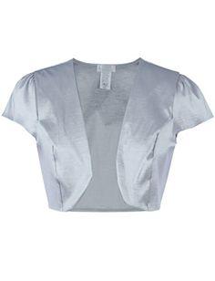 Ola Mari Silky Satin Solid Cap Sleeve Shrug Bolero >>> Want to know more, click on the image.