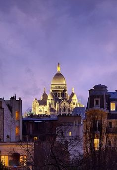 View on Sacré-Cœur Basilica from Galeries Lafayette Rooftop, 48 Boulevard Haussmann, Paris IX