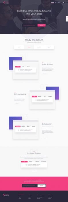 Kandy Developers Landing Page by KREATIVA Studio in Web design
