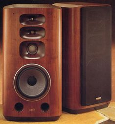 Sony At a pair of was a luxury only the outrageously rich could afford. Type : bass-reflex Dimensions : x x Weight : Production run : probably less than 50 pairs. Sony Speakers, Wooden Speakers, High End Speakers, Audiophile Speakers, High End Audio, Hifi Audio, Hifi Stereo, Audio Design, Speaker Design