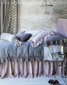 French Grey Bedding - I love this!