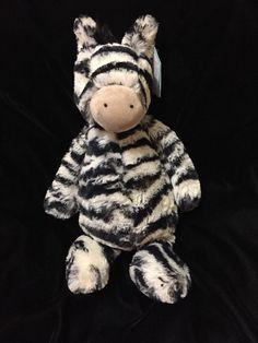 Jellycat Bashful Zebra Plush Bashful Soft Toy Medium Pony Horse Stripe Safari    eBay