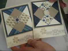 card making video: Diamond Quilt for cards frenchiestamps.com
