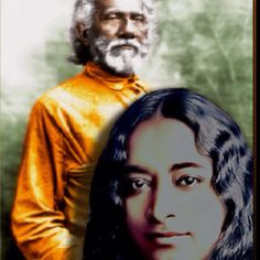 Paramahansa Yogananda and his guru, Swami Sri Yukteswar.