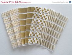 Gold Washi Stickers for Erin Condren Life by WashiPlannerStickers