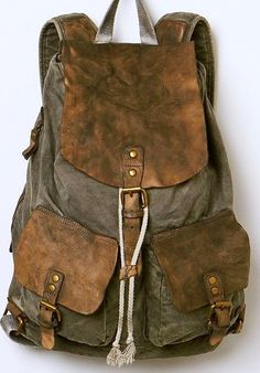 Bed Stu Missoula Backpack at Free People Clothing Boutique -Army style Mochila Formal, Laura Harrier, Lone Wanderer, Sac Week End, Nathan Drake, By Any Means Necessary, Fallout 3, Style Retro, Mode Vintage