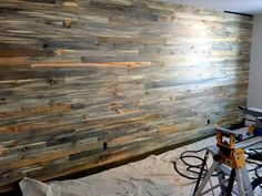 Blue stain pine wall