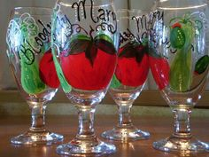 Bloody Mary drink glasses (set of 4)