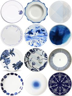 Modern Blue and White China Patterns!   See more at http://snippetandink.com/the-registry-modern-blue-and-white-china-patterns/.