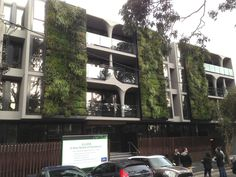 Vertical garden, Melbourne apartment building