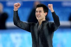 Patrick Chan performing in the Men's Short Program at the Sochi 2014 Olympic Winter Games in Sochi, Russia on February 13, 2014.