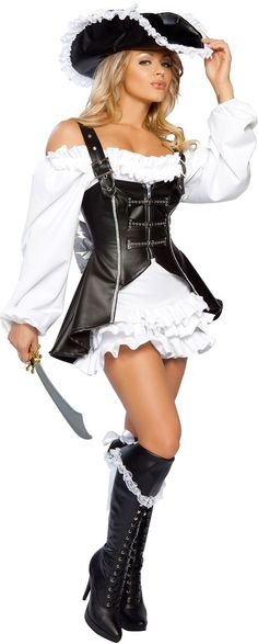 Shop at Costume Craze for sultry savings on thousands of sexy Halloween costumes for women. Save big on all sexy costumes from burlesque to hot Halloween costumes. Adult Pirate Costume, Adult Costumes, Costumes For Women, Pirate Costumes, Diy Pirate Costume For Women, Pirate Hats, Couple Costumes, Rave Halloween Costumes, Pirate Halloween