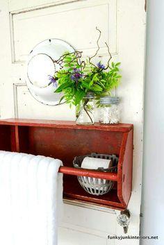 Bachmanu0027s 2012 Ideas House Part 2...Upstairs... | Bathroom Ideas |  Pinterest | Metal Baskets, Basket Storage And Vintage Metal
