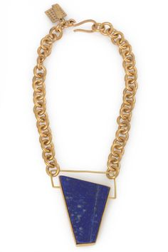 Lapis Facet Necklace