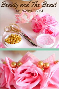 See how to create a princess tiara for your next Beauty and The Beast party! will show you how to make a crown fit for any princess. Princess Tiara, Princess Party, Beauty And The Beast Diy, Make A Crown, Festive Crafts, Diy Wedding Projects, Diy Party Decorations, Disney Princesses, Party Planning