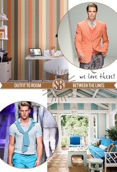 Between the Lines    men's fashion trends become interior design inspiration