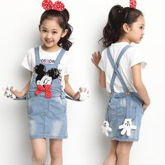 Find More Dresses Information about 2016 new spring summer girls clothes Mickey jeans dress fashion cartoon slip denim dress suspender dress 2 11 T kids clothes,High Quality dress taffeta,China dress business casual attire Suppliers, Cheap dress linen from TAILORED on Aliexpress.com
