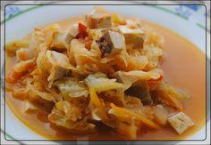 Mama Mia kreierte ein Szegediner Gulasch aus Kartoffeln, Tofu, Paprika, Tomaten und Sauerkraut.