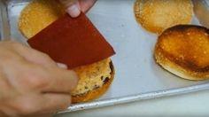 Ketchup leather on hamburgers.