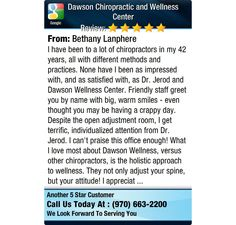 I have been to a lot of chiropractors in my 42 years, all with different methods and...