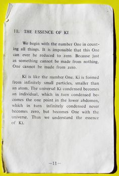 """""""Ki is formed from infinitely small particles, smaller than an atom"""" Ki Sayings by Koichi Tohei"""