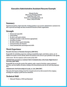 nice sample to make administrative assistant resume. Resume Example. Resume CV Cover Letter
