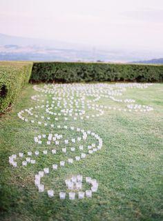 outdoor - wedding - candles