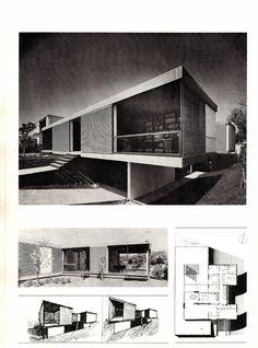 Τάκης Χ. Ζενέτος, 1926-1977 - Takis Ch. Zenetos, 1926-1977 Contemporary Houses, Modern Houses, Modern Buildings, Mid-century Modern, Vintage Architecture, House Architecture, Facade House, Mid Century House, Mid Century Modern Design
