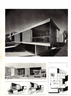 Takis Ch. Zenetos, 1926-1977 Contemporary Houses, Modern Houses, Mid-century Modern, Mid Century House, Mid Century Modern Design, House Architecture, Minimalism, Greece, Art Deco