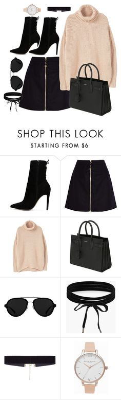 """Untitled #3016"" by magsmccray ❤ liked on Polyvore featuring ALDO, Acne Studios, MANGO, Yves Saint Laurent, 3.1 Phillip Lim, Boohoo, 8 Other Reasons and Olivia Burton"