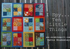 I Spy Ten Little Things Quilt Tutorial (Moda Bake Shop)