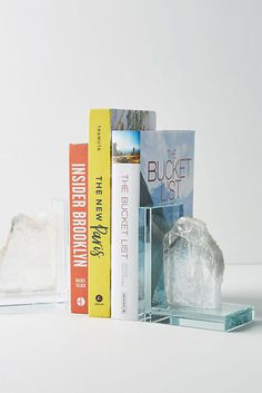1. Crystal bookends—Selenite Bookends, Anthropologie, US $68.
