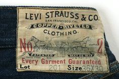 Levi Strauss 201, 1900's
