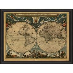 Melbourne abstract map nat frame art pinterest melbourne map of the world circa 1664 framed print gumiabroncs Image collections