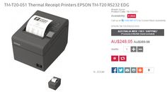 Best Deals on TM-T20-051 Thermal Receipt Printers EPSON TM-T20 RS232 EDG. QuickPOS offer 31% OFF on actual price with FREE Shipping across Australia..!  http://www.quickpos.com.au/pos-receipt-printer/thermal-receipt-printers-epson-tm-t20-rs232-edg-tm-t20-051