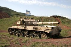 Israeli Centurion Sho't tank abandoned at Golan Heights after Yom Kippur war