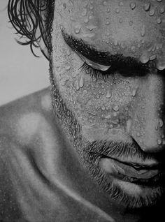 Super realism with pencil 'Contemplation' by Paul-Shanghai (China)
