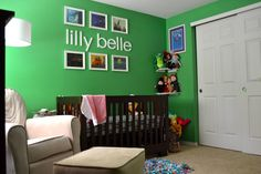 Looking for a bold nursery color? Try kelly green!