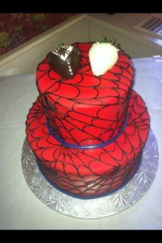 Spiderman wedding cake! Love it!
