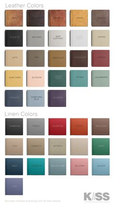 COLOR SWATCHES // Leather covers are 100% natural, and full-grain leather, which…