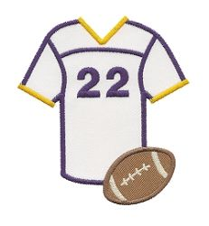 Football Jersey Applique - 3 Sizes! | Football | Machine Embroidery Designs | SWAKembroidery.com Applique for Kids